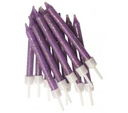 Žvakutės, violetinės blizgios (12 vnt.)