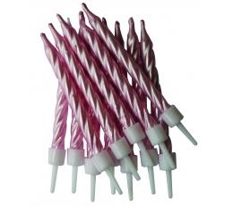 Žvakutės, rausvos perlamutrinės (12 vnt.)