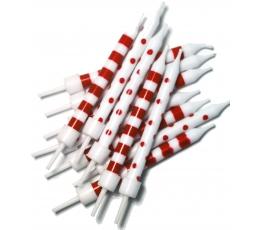 Žvakutės,  raudonai baltos (12 vnt.)