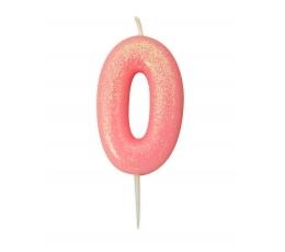 """Žvakutė """"0"""", rožinė"""