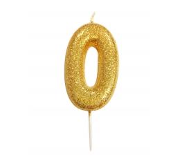 """Žvakutė """"0"""", auksinė"""