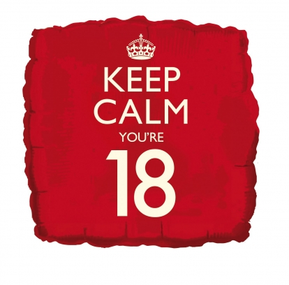 "Folinis balionas ""Keep calm 18"""