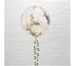 Гигантские воздушные шарики, прозрачные с конфетти цвета  розового золото (3 шт/ 91 см)