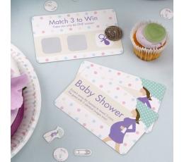 Žaidimas-loterija Baby Shower vakarėliui (10 kortelių)