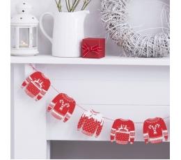 """Medinė girlianda """"Kalėdiniai megztiniai"""" (1,5 m)"""