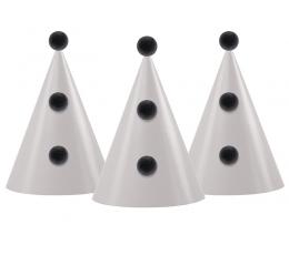 Kepuraitės su burbuliukais, juodai pilkos (3 vnt.)