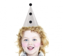 """""""Party Hats with pom-poms, beige, 1pack"""" 0"""