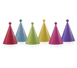 Kepuraitės su burbuliukais, spalvotos (6 vnt.)