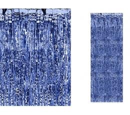 Mėlynos folijos užuolaida-lietutis (90x250 cm)