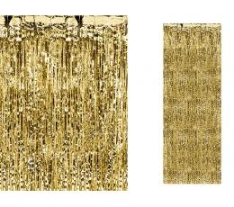 Aukso folijos užuolaida (90x250 cm)