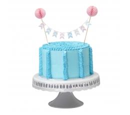 Torto dekoracija-girlianda su burbuliukais