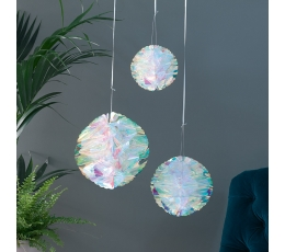 Burbulai-dekoracijos, perlamutriniai (3 vnt.)