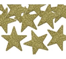 """Karpiniai-dekoracijos """"Auksinės žvaigždutės"""" (8 vnt./5 cm)"""