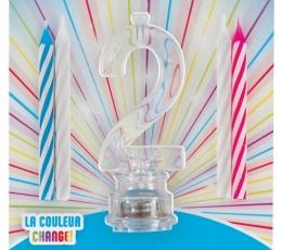 """Žvakutės su spalvą keičiančiu laikikliu """"2"""""""