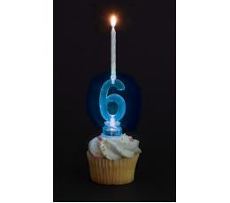 """Žvakutės su spalvą keičiančiu laikikliu """"6"""""""