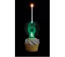 """Žvakutės su spalvą keičiančiu laikikliu """"4"""""""