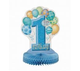 """Stalo dekoracija """"Pirmasis gimtadienis"""", žydra"""