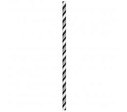 Šiaudeliai, juodi dryžuoti (24 vnt.)