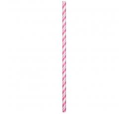 Šiaudeliai, rožiniai dryžuoti (24 vnt.)