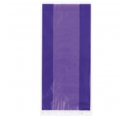 Skanėstų-dovanų maišeliai, violetiniai celofaniniai  (30 vnt.)