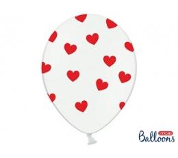 """Balionas """"Raudonos širdelės"""" (30 cm)"""