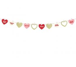 """Girlianda """"Širdelės ir nuotraukos"""" (1,1 m)"""