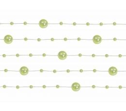 Perliukų girlianda, žalsva (1,3 m)