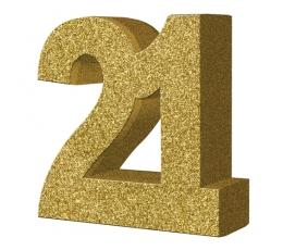 "Stalo dekoracija, auksinė ""21"" (20 cm)"