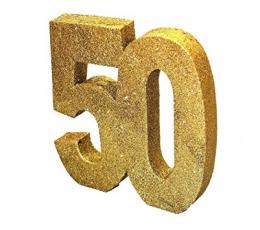 "Stalo dekoracija, auksinė ""50"" (20 cm)"
