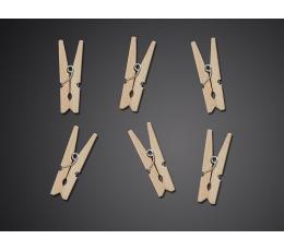 Dekoratyviniai segtukai, mediniai (20 vnt.)