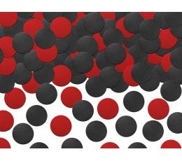 Popieriniai konfeti, juodai-raudoni (5 g.)