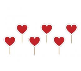 """Smeigtukai-dekoracijos """"Širdelės"""" (6 vnt.)"""