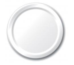 Lėkštutės, baltos (8 vnt./17 cm)