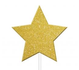 """Smeigtukai-dekoracijos """"Aukso žvaigždės"""" (12 vnt.)"""