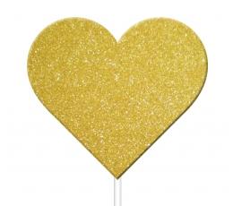 "Smeigtukai-dekoracijos ""Aukso širdys"" (12 vnt.)"