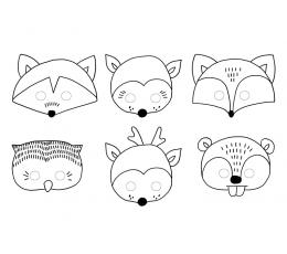 """Kaukės-žaidimas """"Miško žvėrys"""" (6 vnt.)"""
