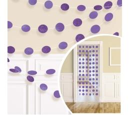 Kabančios dekoracijos, blizgios violetinės (6 vnt./2,13 m)