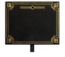 Kreidinės lentelės-segtukai, juodai auksinės (8 vnt.)