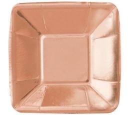 """Mini lėkštutės """"Rožinis auksas"""" (8 vnt./12 cm)"""