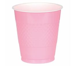 Plastikiniai puodeliai, rausvi (10 vnt./355 ml)
