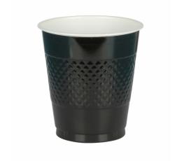 Plastikiniai puodeliai, juodi (10 vnt./355 ml)