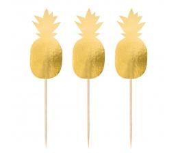 """Smeigtukai-dekoracijos """"Auksiniai ananasai"""" (20 vnt.)"""