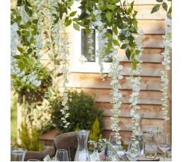 Dirbtinių gėlių girliandos (4 vnt./1 m), baltos
