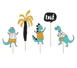 """Smeigtukai-dekoracijos """"Linksmi dinozaurai"""" (5 vnt.)"""