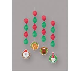 "Kabančios dekoracijos ""Kalėdos"" (4 vnt.)"