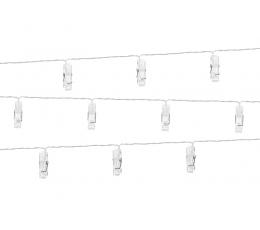 LED segtukų girlianda nuotraukoms (1,4 m/10 segtukų)