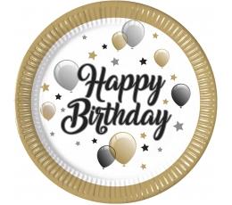 """Lėkštutės """"Happy Birthday Balloons"""" (8 vnt./23 cm)"""