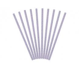 Šiaudeliai, violetiniai zigzagai (10 vnt.)