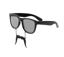 Šventiniai akiniai su ūsais
