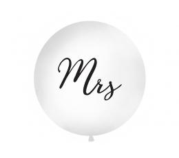 """Didelis balionas """"Mrs"""", baltas (1 m)"""